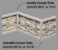 Pineapple Grove Designs Frieze Inside Corner Trim