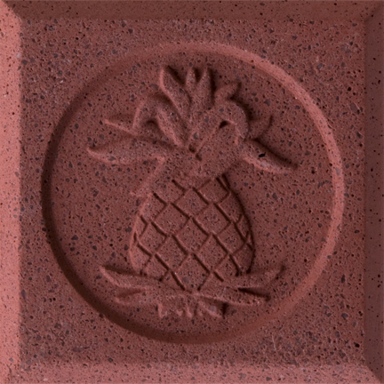 Brick Red Engineered Cast Stone finish by Pineapple Grove Designs
