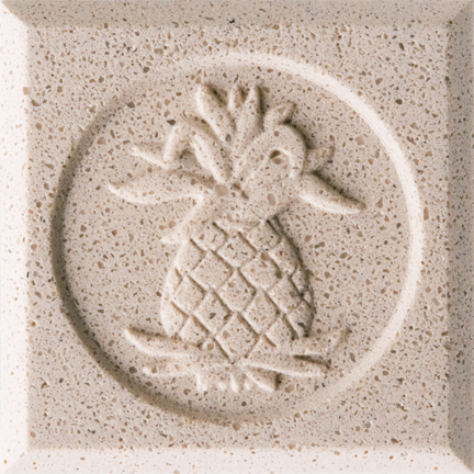 Coral Sand Engineered Cast Stone finish by Pineapple Grove Designs