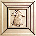 Pineapple Grove Designs cast stone Square Medallions Surround