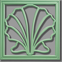 Pineapple Grove Designs Scallop Architectural Grille Ornament