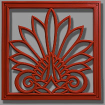 Pineapple Grove Designs Anthemion Architectural Grille Ornament