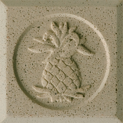 Coastal Ivory Engineered Cast Stone finish by Pineapple Grove Designs