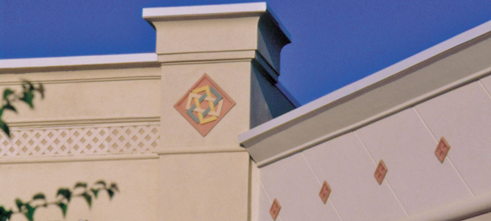 cast stone architectural ornaments, medallions and Friezes by Pineapple Grove Designs