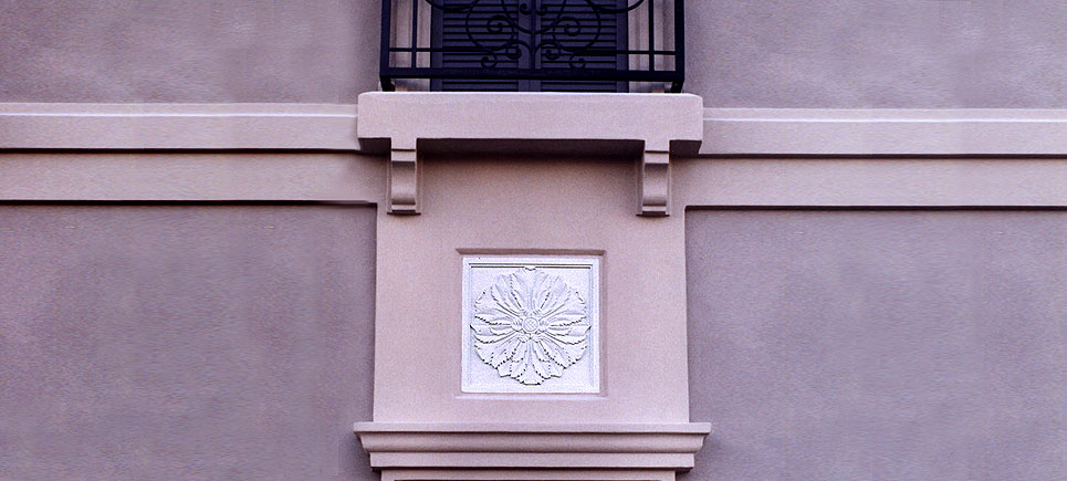 cast stone architectural ornaments and medallions by Pineapple Grove Designs