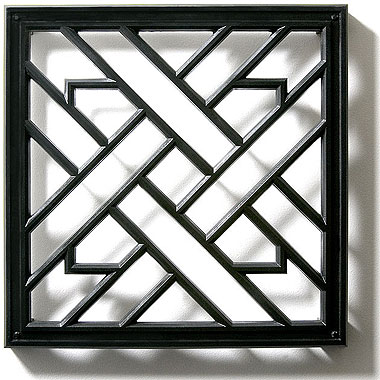 weave grille architectural grilles pineapple grove designs. Black Bedroom Furniture Sets. Home Design Ideas