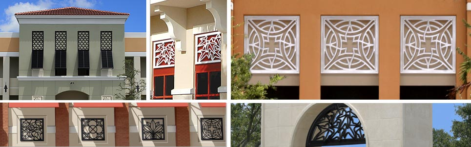 architectural grilles for windows and arches - pineapple grove designs