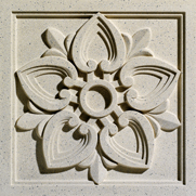 Engineered Cast Stone Lotus-099 Coastal Ivory architectural ornament by Pineapple Grove Desingns